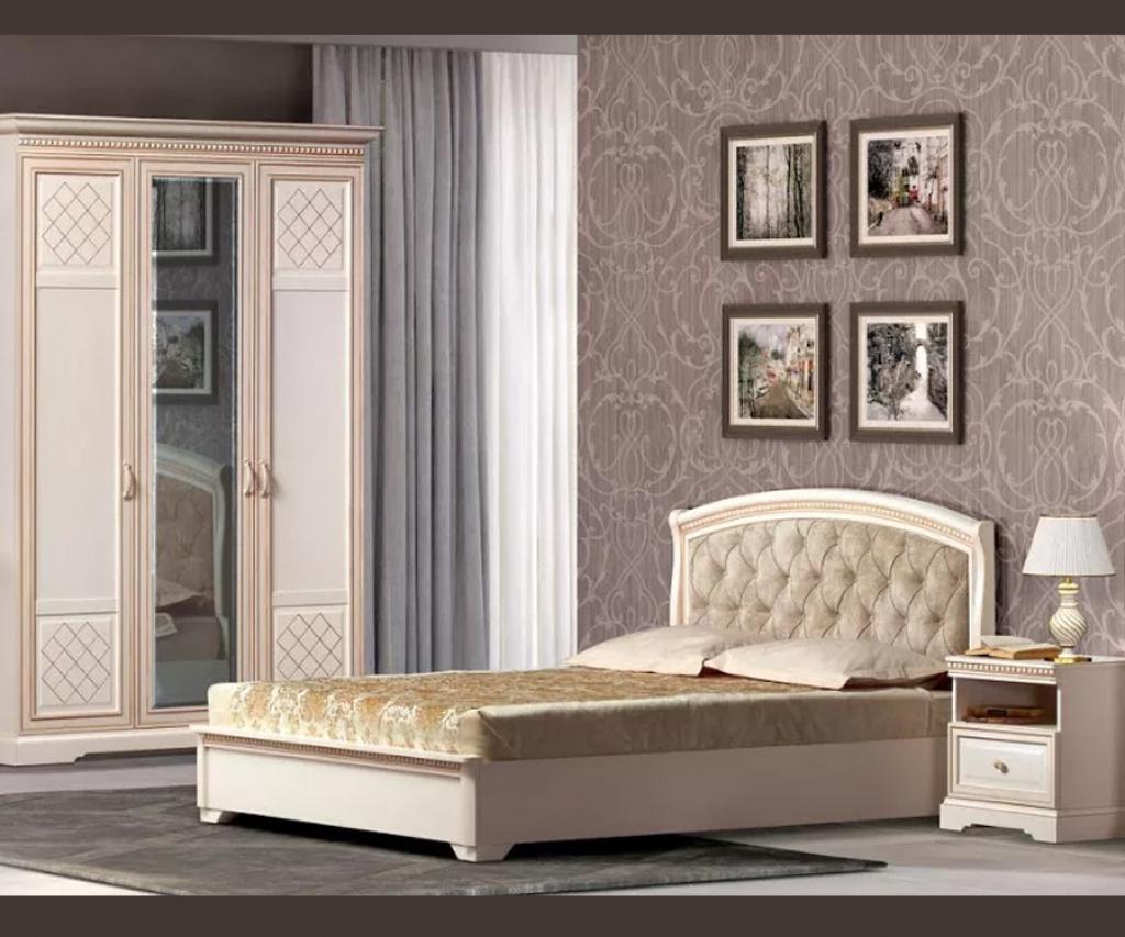 """Кровать """"Парма"""" кремовый белый"""