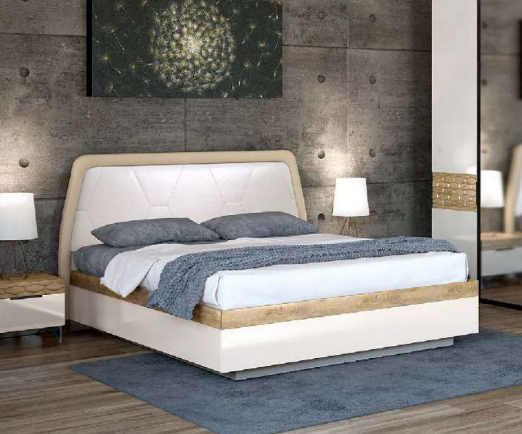 """Кровать """"Дели"""" белая"""