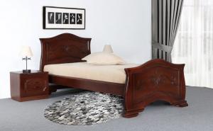 А кровать Людмила-14 массив сосны